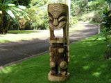 "Natural Tiki God Ku 40"" - Premium Monkey Pod - Hawaii Heritage"