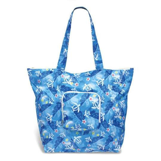 Honu Island Floral Deluxe Foldable Tote