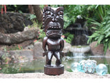 "Ku Tiki 16"" - Walnut Stain - Traditional Hawaii Museum Replica"