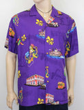 Rayon Shirt - Tropical Mardi Gras