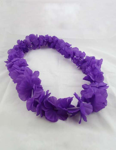 Party Fun Purple Silk Aloha Lei