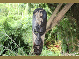 "Native Tiki Mask Gecko 20"" - Abstract Wall Decor"
