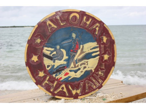 Aloha Hawaii Vintage Surf Sign