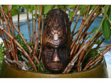 "Fijian Tiki Mask W/ Turtle & Gecko - 12"" - Hawaiian Decor"