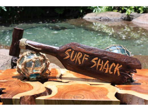 """Surf Shack"" Hanging Paddle - 40"" - Surf Decor"