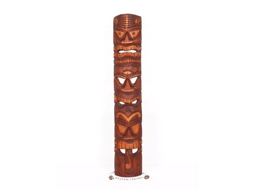 "Love Prosperity Health Tiki Mask 40"" - Hand Carved"