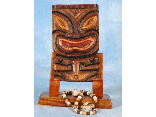 "Tiki Mask 8"" Wall Plaque - Easter Island"