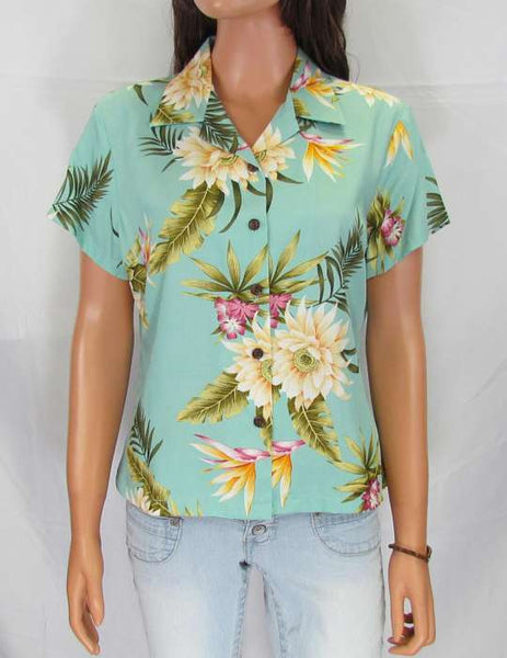 Women's Hawaiian Rayon Blouse - Island Ceres
