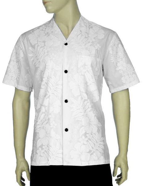 White Wedding Aloha Shirt Hokeo