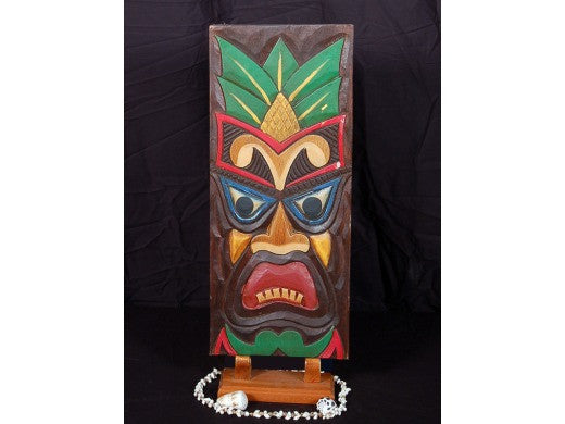 "Tiki Shield 20"" - Tiki Mask Wall Plaque Decor"