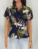 Women Hawaiian Rayon Blouse Hanapepe