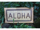 "Bamboo Tropical Sign ""Aloha"" - Tiki Bar Decor"