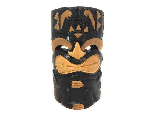 "Happy Tiki Mask 8"" - Hand Carved Smiley Tiki"