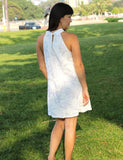 Short Rayon White Hawaiian Wedding Dress - Makena Beach