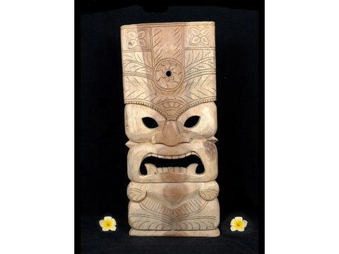 "Tiki Mask Lono Ocean Tiki God  - 18"" - Island Decor"