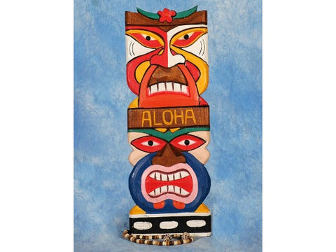 """Aloha"" Tiki Mask 20"" Wall Plaque - Colorful Tiki"