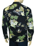 Long Sleeves Hawaiian Island Shirt in Cotton