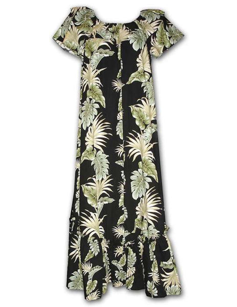 Lei of Aloha Long Muumuu Hawaiian Dress