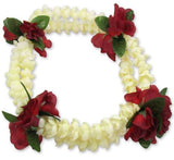 Double Pikake and Red Rosebuds Headband