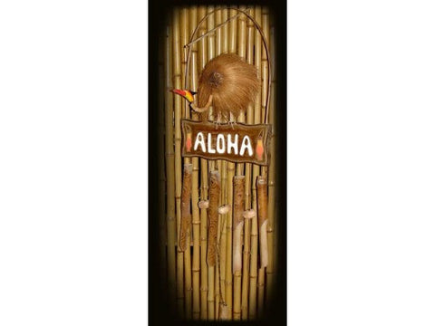 """Aloha"" Wind Chime - 40"" Bamboo - Tropical Relaxation"