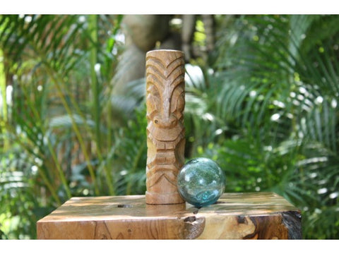 "Big Island Tiki Totem 8"" Natural - Hawaiian Tiki Bar Decor"