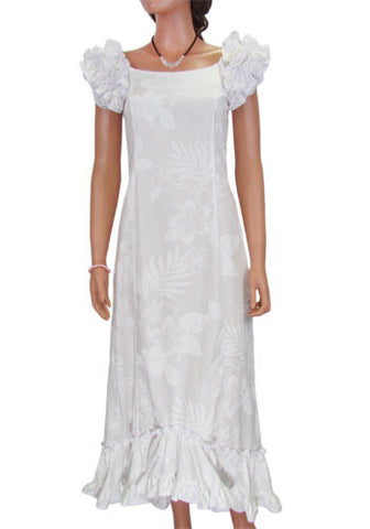 Beach Wedding Long Ruffle La'ele Muumuu Dress