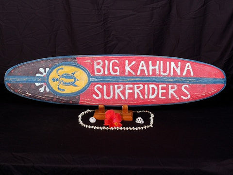 """Big kahuna Surfriders"" Surf Sign 39"" - Beach Decor"