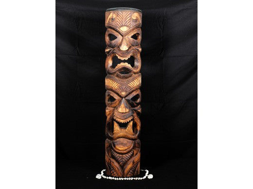 "Tiki Mask Love/Prosperity 40"" - Antique Finish"