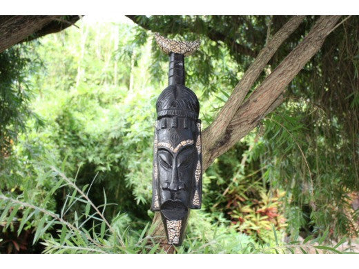 "Native Tiki Mask Chief 20"" - Interior Designer Decor"