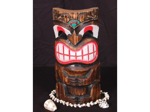 "Smiley Tiki Mask 12"" - Pop Art Tiki Decor"