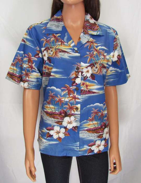 Floral Hawaiian Blouse for Women - Islands