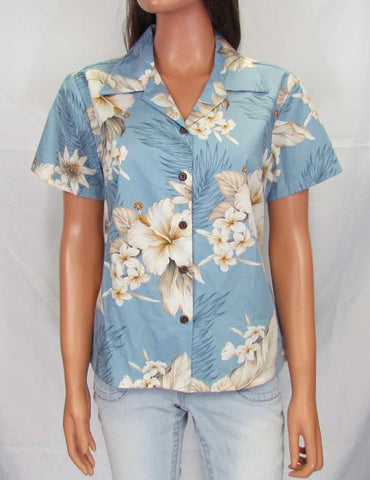 Fitted Floral Blouse for Women - Lanai