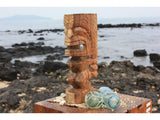 "Carved Ku Tiki 12"" - Natural Monkey Pod - Island Art"