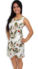 Sarong Dress in Rayon Hanapepe Orchids
