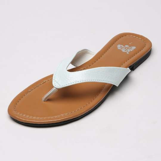 White Flat Thong Sandals