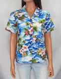 Women's Floral Fitted Shirt - Hookipa Hibiscus