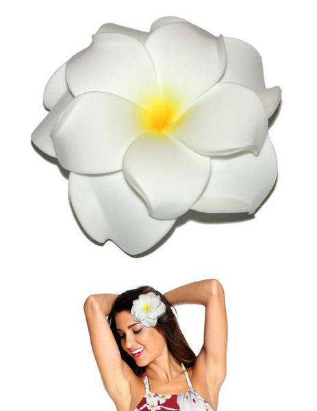 Extra Large White Flower Double Plumeria Hair Clip