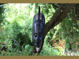 "Primitive Tribal Mask ""Warrior Chief"" 20 Inch"