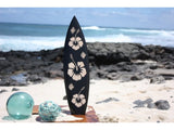 "Wooden Surfboard w/ Hibiscus Flowers 20"" - Surf Decor"