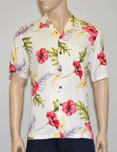 Lanai Monstera Design Hawaii Rayon Shirt
