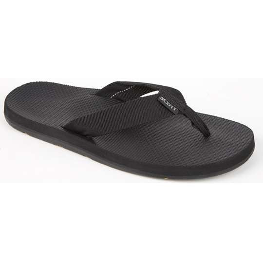 Rubber Outsole Men Black Sandals Scott Hawaii Makaha
