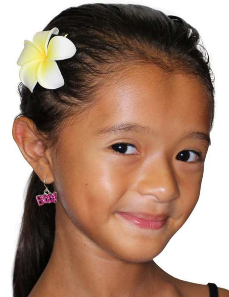 Small Plumeria Flower Hair Clip Natural