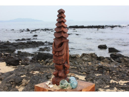 "Tiki God Temple Image 12"" - Stained Hawaii Museum Replica"