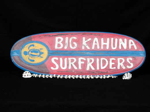 """Big Kahuna Surfriders"" Surf Sign 20"" - Surfing Decor-Surf Decor"