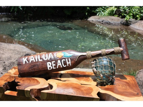 """Kailua Beach"" Surf Sign Hanging Paddle 24 inch - Aloha"