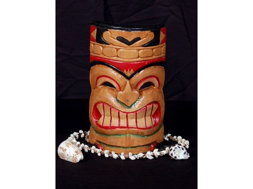 "Carved Polynesian Tiki Mask 8"" - Pop Art Tiki"
