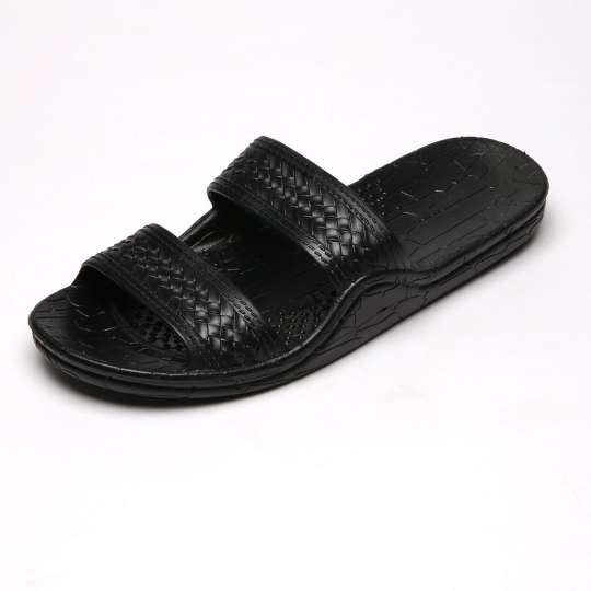 Jesus Sandals - Wide Comfort Fit Black Classic Jandals