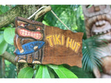 """Tiki Hut"" Surf Tiki God Driftwood Sign 12"""