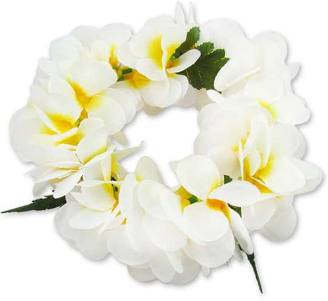 White Plumeria Flowers Headband