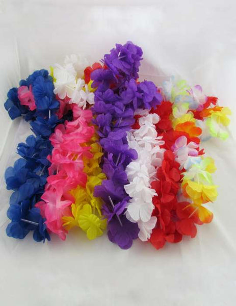 Luau Party Silk Leis Set 7PK